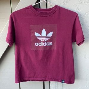 🖐🏼🥳 5/$25 Adidas Logo Crop Tee Medium